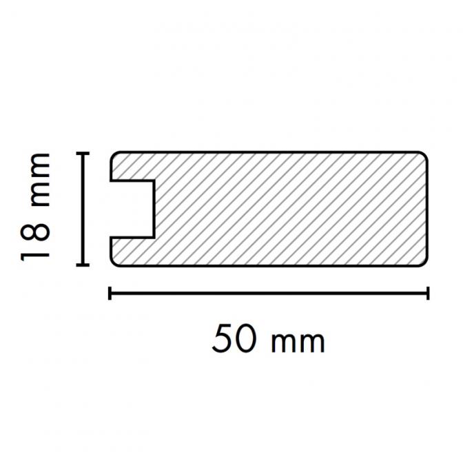 МДФ профиль AGT 1004-Y, крем 330, паз 8 мм