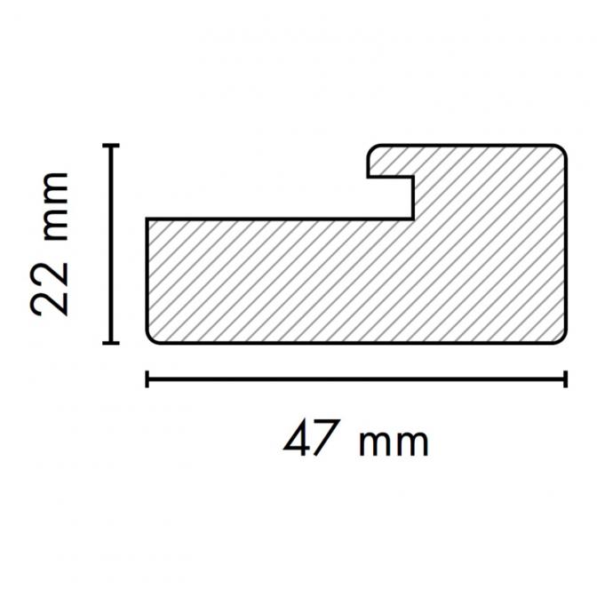 МДФ профиль AGT 1052, венге 246, паз 4 мм
