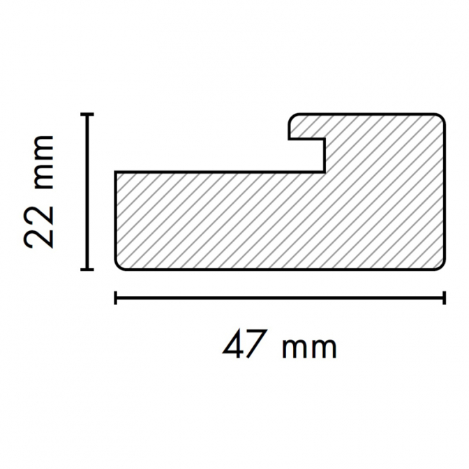 МДФ профиль AGT 1052, груша 206, паз 4 мм