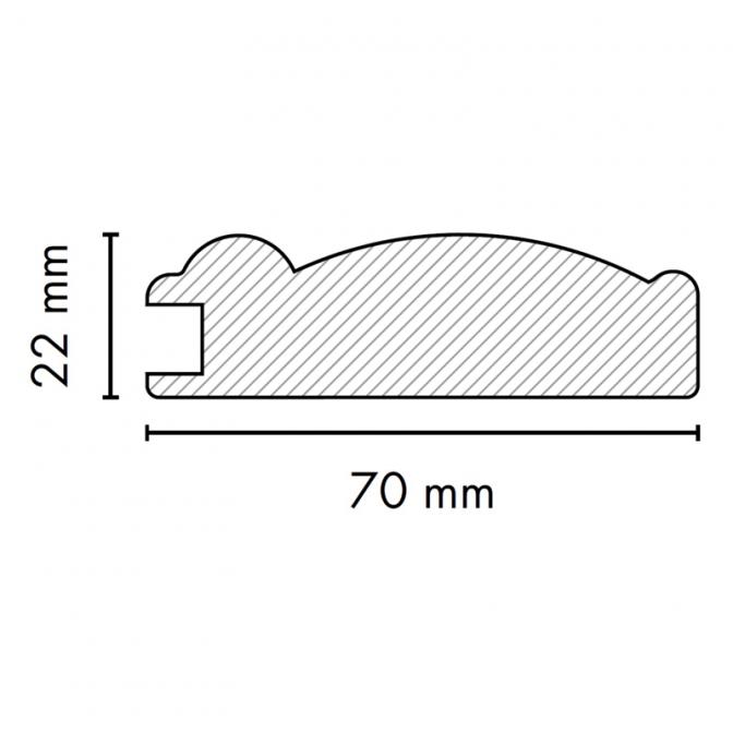 МДФ профиль AGT 1035, яблоня 210, паз 8 мм