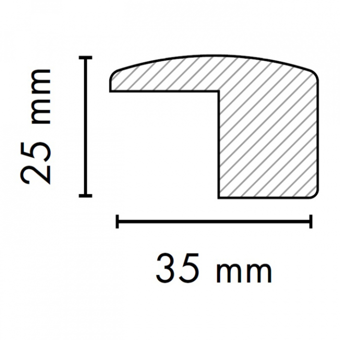 МДФ профиль AGT 1045, яблоня 210, паз 18 мм