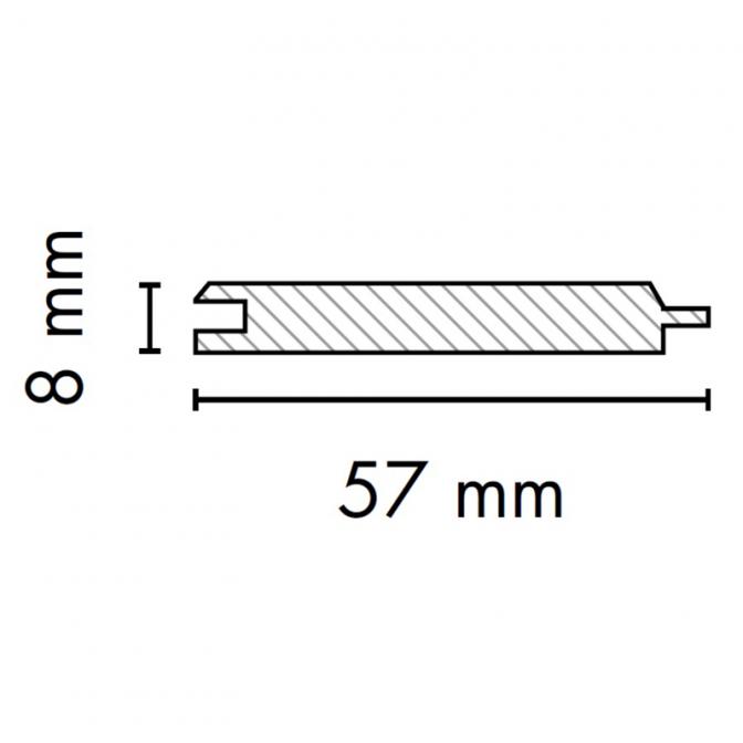 МДФ профиль AGT 2004-Y, венге 246