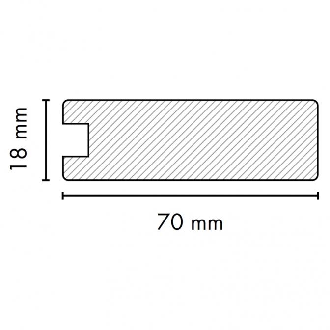 МДФ профиль AGT 1018, яблоня 210, паз 8 мм