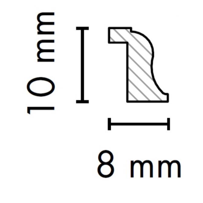 МДФ профиль AGT KS-03, яблоня 210