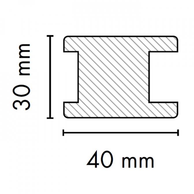 МДФ профиль AGT KS-04, яблоня 210