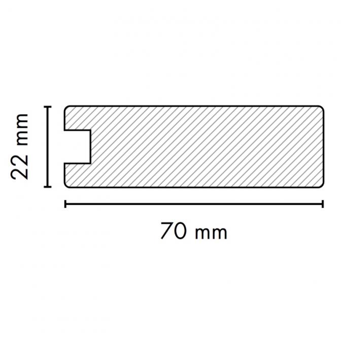 МДФ профиль AGT 1022, бук 205, паз 8 мм