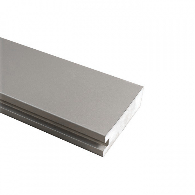 МДФ профиль AGT 1022, серебро 257, паз 8 мм