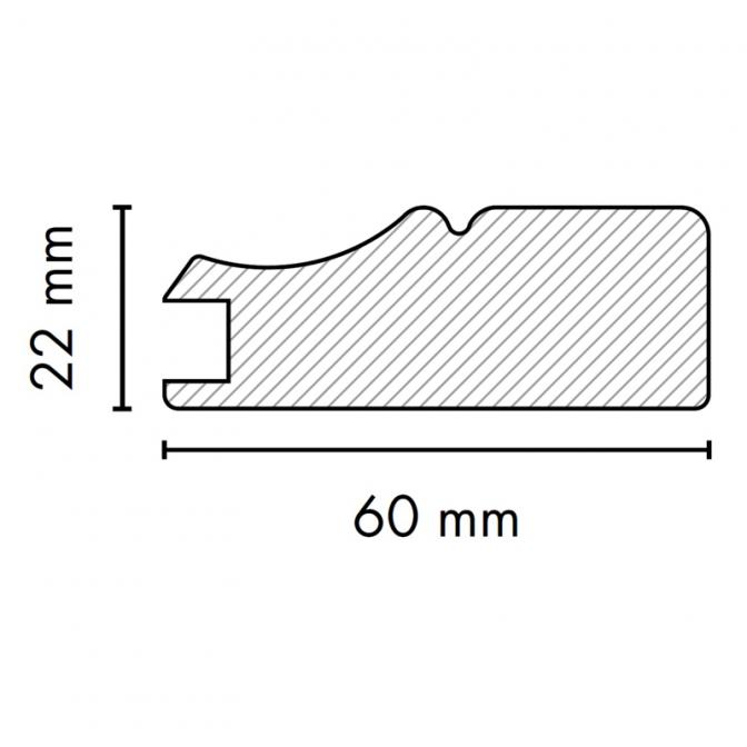 МДФ профиль AGT 1032, бук 205, паз 8 мм