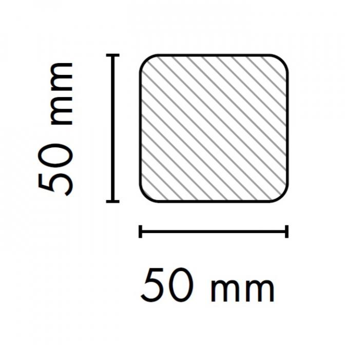 МДФ профиль AGT 1015, серебро 257