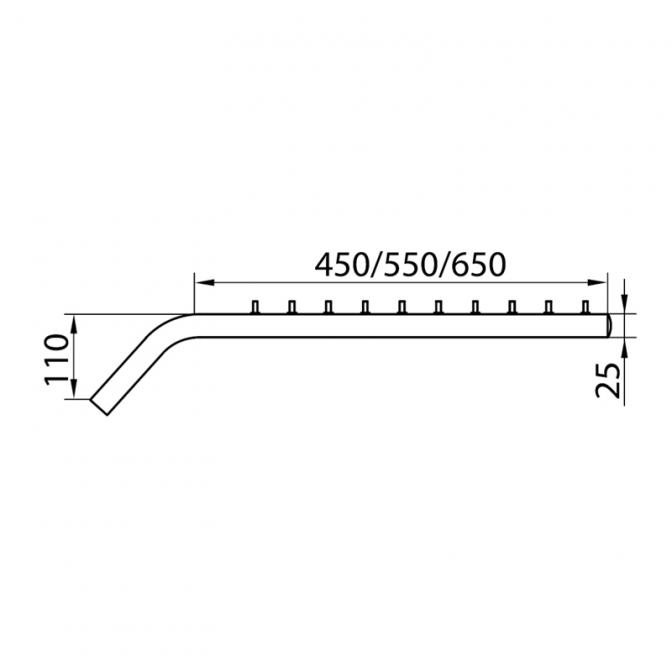 R-38/10 вешалка наклонная прямая