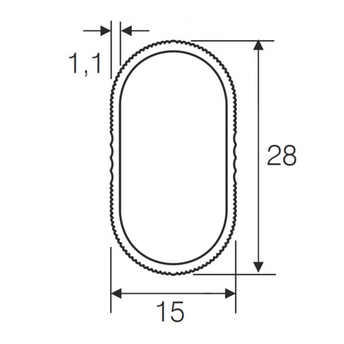 Штанга для одежды 15х28 мм, 3000 мм, рифлёная, алюминий, Mesan