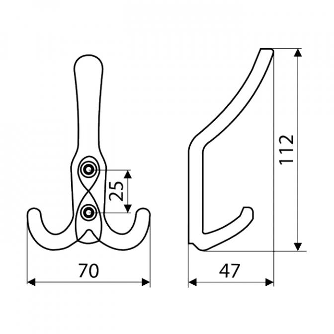 Крючок WR43, бронза, Gamet