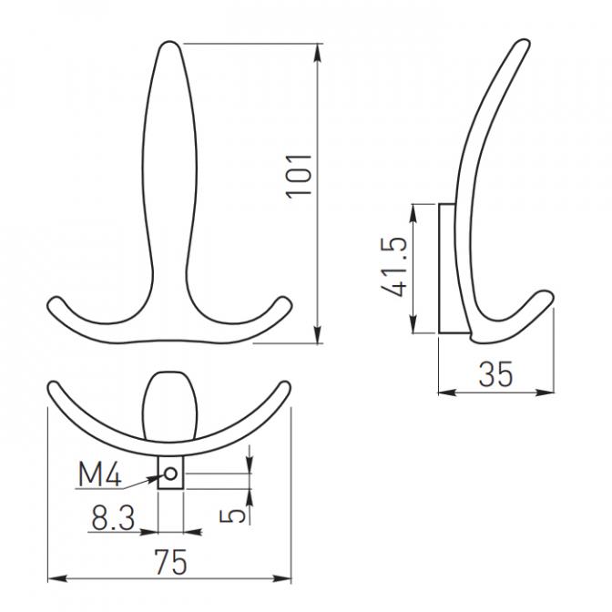 Крючок E18, хром, GTV