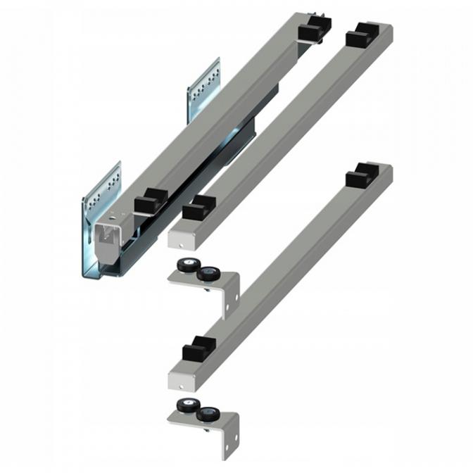 Направляющие скрытые 450 мм, левые, Push to Open, Variant Multi Rejs