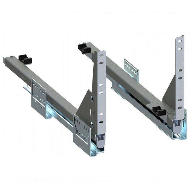 Направляющие скрытые 450 мм, нижние, Push to Open, Variant Multi Rejs