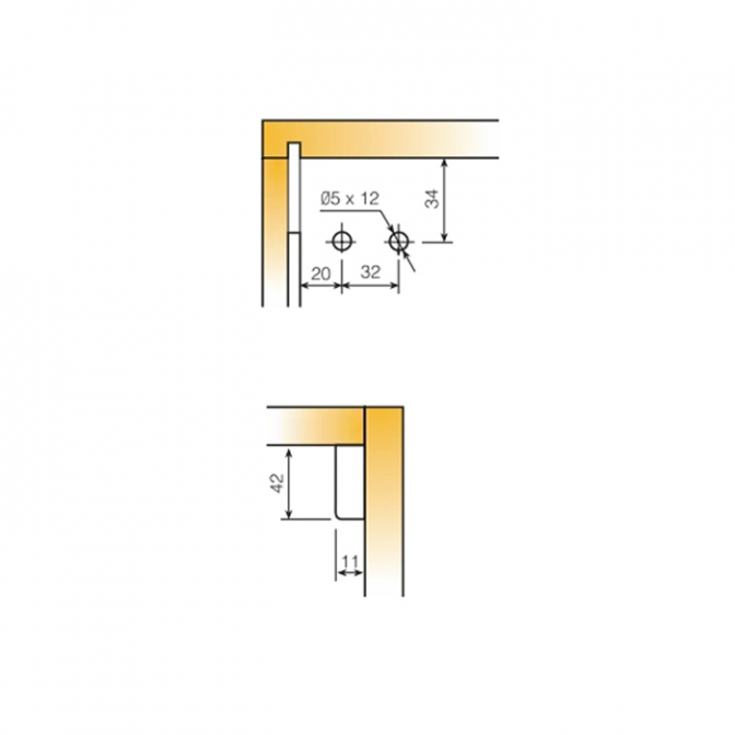 Навес кухонный InterFit 65, регулируемый, (L+R), Titus