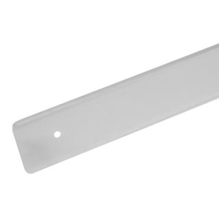 Планка торцевая для столешницы 38 мм, левая, R=3, алюминий