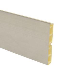 Цоколь пластиковый, нержавеющая сталь, L=4000, h=100, Mesan