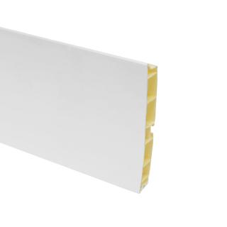 Цоколь пластиковый, белый, глянец, L=4000, h=100, Mesan