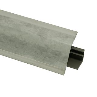 Плинтус 118 Мрамор Вальмасино светло-серый 609724, 4200 мм, Rehau