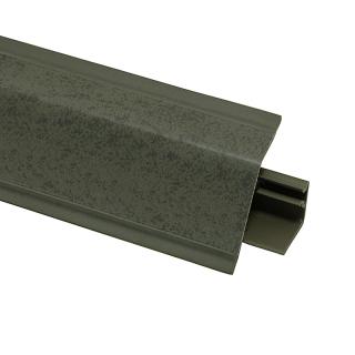 Плинтус 118 Хромикс антрацит 609745, 4200 мм, Rehau