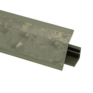 Плинтус 118 Мрамор Чиполлино серый 609769, 4200 мм, Rehau