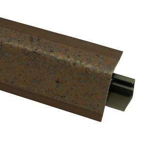 Плинтус 118 Ферро бронза 609644, 4200 мм, Rehau