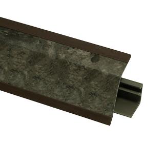 Плинтус 118 Мрамор Чиполлино черно-медный 609708, 4200 мм, Rehau