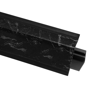 Плинтус 118 Мрамор черный 604796, 4200 мм, Rehau