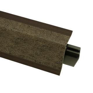 Плинтус 118 Валентино коричневый 630584, 4200 мм, Rehau