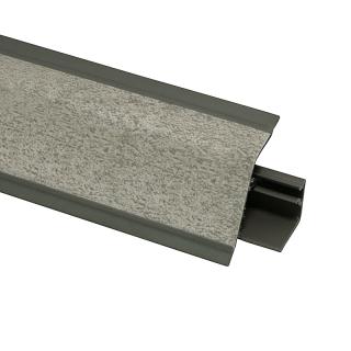 Плинтус 118 Валентино серый 630614, 4200 мм, Rehau