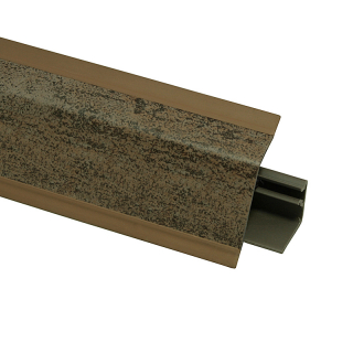 Плинтус 118 Металл коричневый 635136, 4200 мм, Rehau