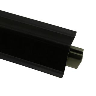 Плинтус 118 Черный глянец 631985, 4200 мм, Rehau