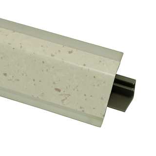 Плинтус 118 Трани светло-серый 621574, 4200 мм, Rehau