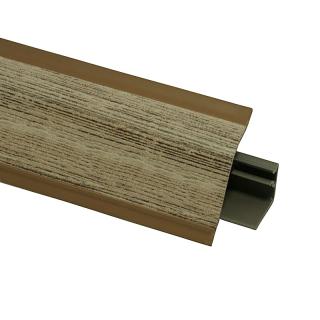 Плинтус 118 Малави коричневый 623959, 4200 мм, Rehau