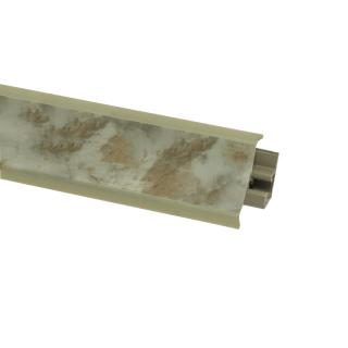 Плинтус 80 Мрамор серый, 3000 мм, El-mech-plast