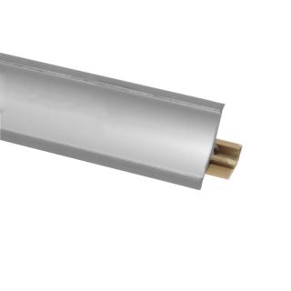 Плинтус 43 Матовый хром, 3000 мм, El-mech-plast