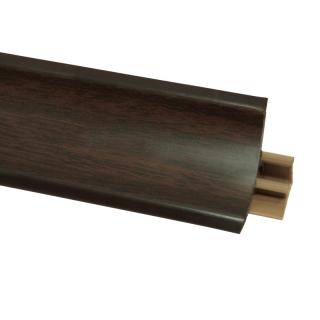 Плинтус 26 Орех темный, 3000 мм, El-mech-plast