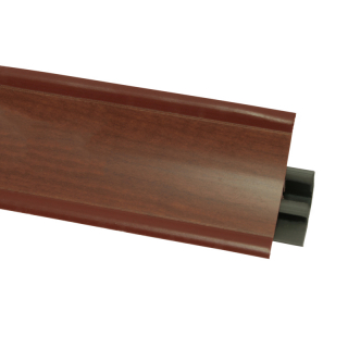 Плинтус 17 Груша темная, 3000 мм, El-mech-plast