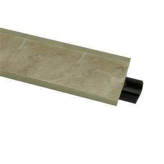 Плинтус 91 Мрамор аликанте, 3000мм, El-mech-plast