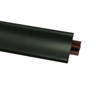 Плинтус 55 Черный матовый, 3000 мм, El-mech-plast
