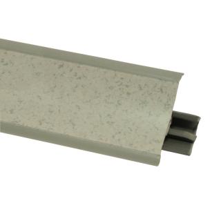 Плинтус 88 Петра серая, 3000 мм, El-mech-plast