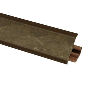 Плинтус 99 Аликанте коричневый, 3000мм, El-mech-plast