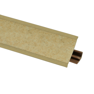 Плинтус 112 Песок, 3000мм, El-mech-plast
