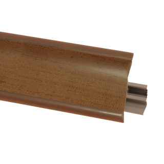 Плинтус 20А Вишня темная, 3000 мм, El-mech-plast