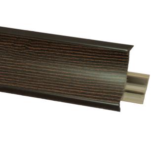 Плинтус 35 Лорендо темный, 3000 мм, El-mech-plast