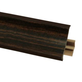 Плинтус 72 Зебрано темный, 3000 мм, El-mech-plast