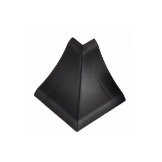 Угол наружный к плинтусу черная 55, El-mech-plast