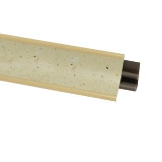 Плинтус 38 Беж крошка, 3000 мм, El-mech-plast