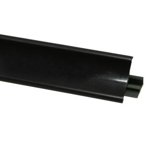 Плинтус 117 Черный глянец, 3000 мм, El-mech-plast